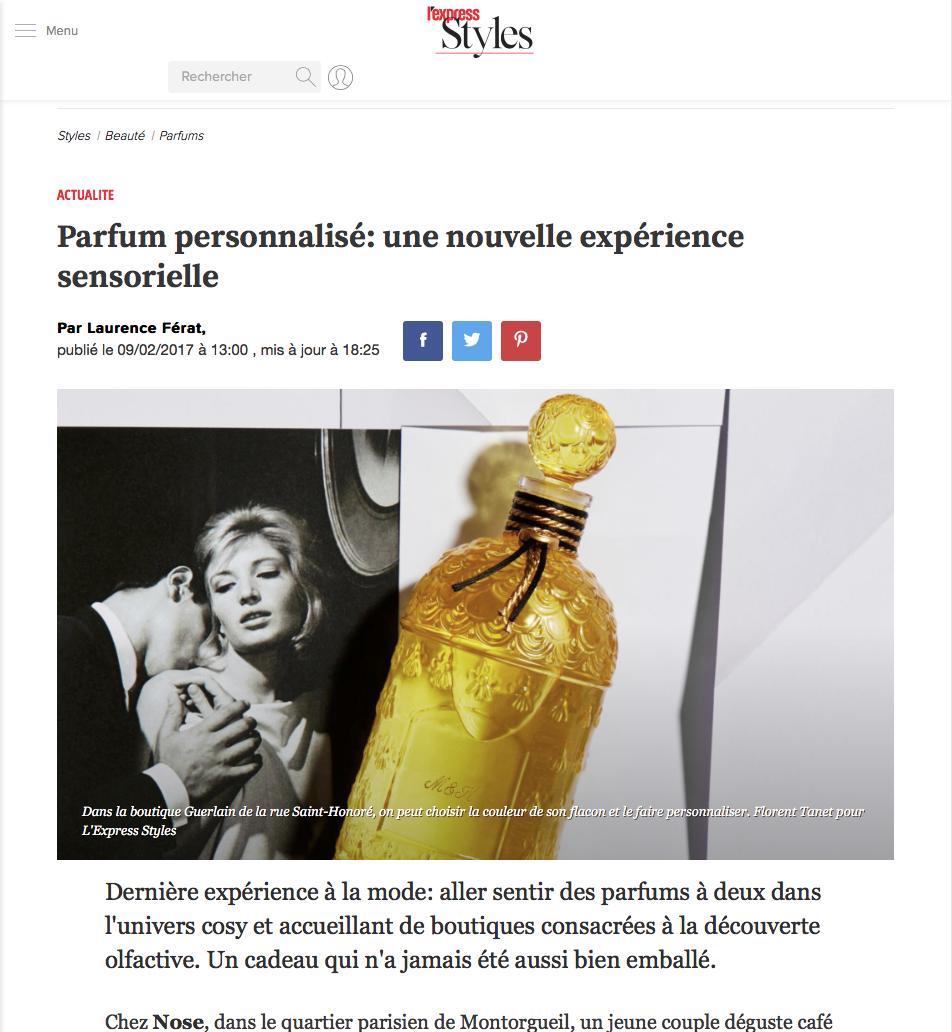 Parfum personnalisé - une nouvelle expérience sensorielle - L'Express Styles